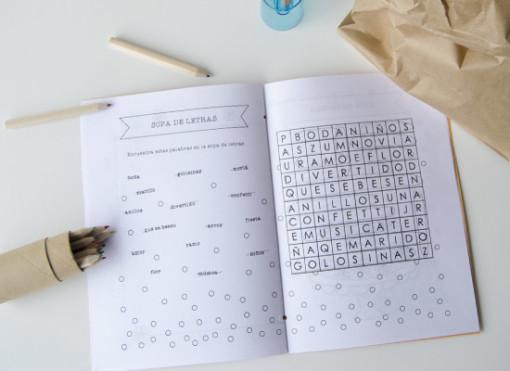cuaderno de actividades para boda