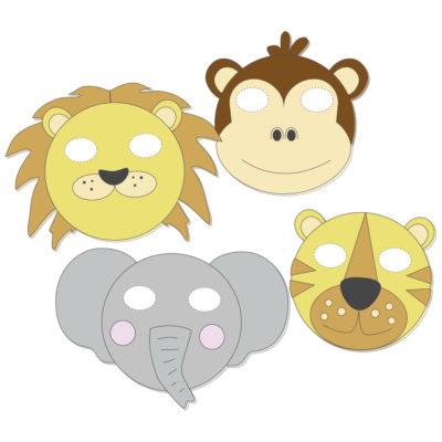 mascaras animales jungla diy
