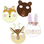 mascaras animales bosque diy