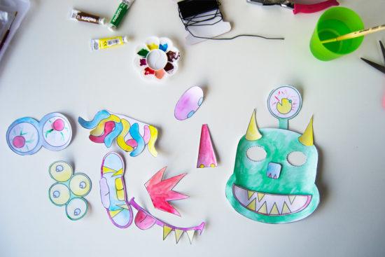 mascaras imprimibles monstruos