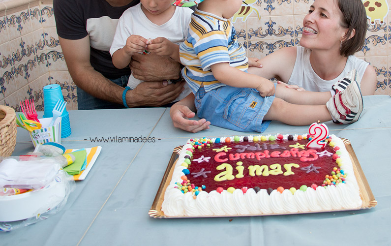tarta de cumpleaños de yogur